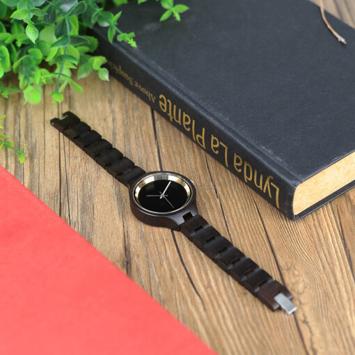 montre en bois metro marron bracelet