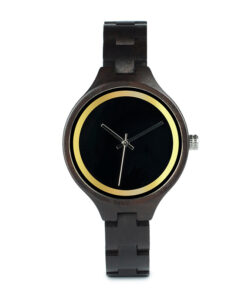 montre en bois metro marron wood