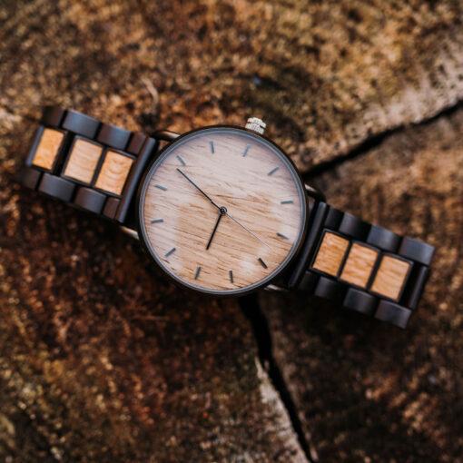 montre en bois nordic chene naturel