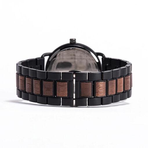 montre en bois nordic noyer bracelet