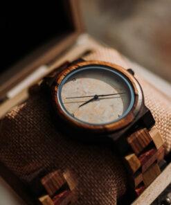 montre en bois quartz boite cadeau