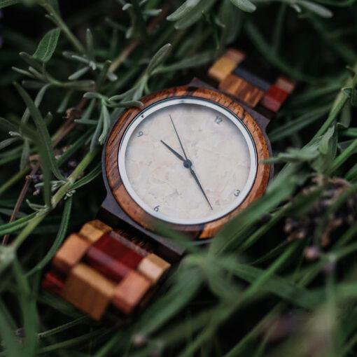 montre en bois quartz nature