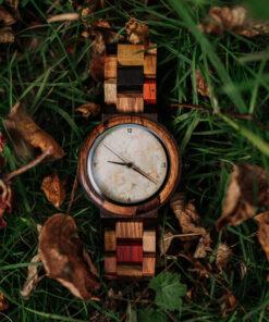 montre en bois quartz originale