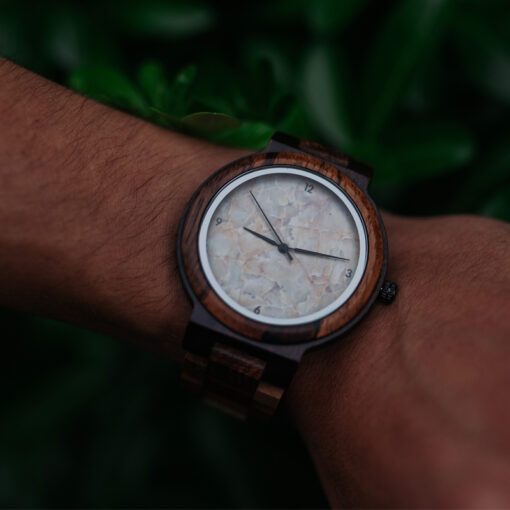 montre en bois quartz poignet
