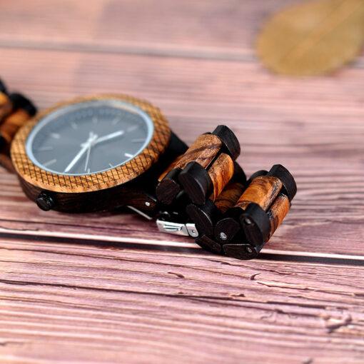 montre en bois stones bracelet
