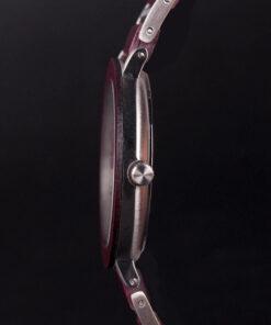 montre en bois femme aero lady violet epaisseur