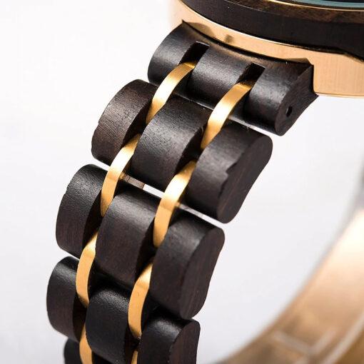 montre en bois femme charme bracelet