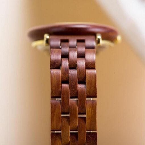montre en bois femme polar koa bracelet