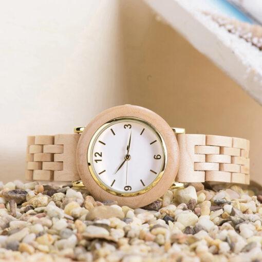 montre en bois femme polar olivier bracelet