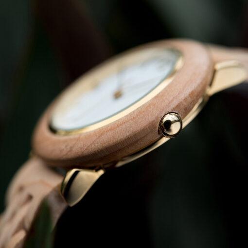 montre en bois femme polar olivier cadran