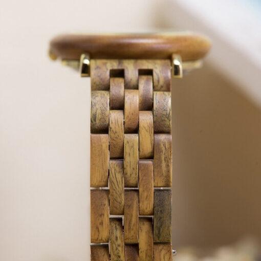 montre en bois femme polar santal bracelet