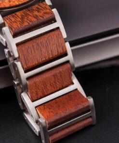 montre en bois homme aero fire bracelet