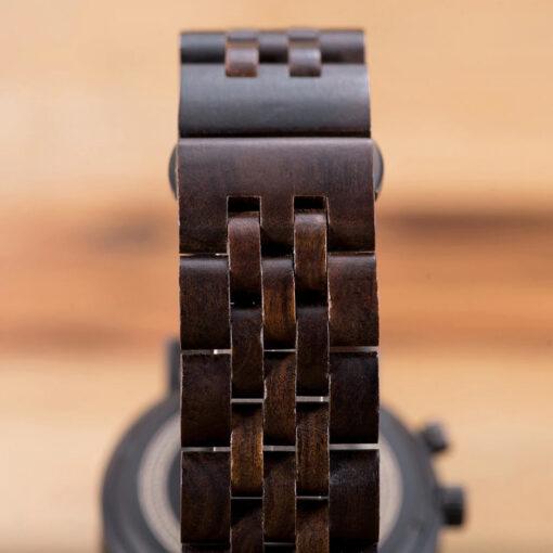 montre en bois homme ebene rainy bracelet