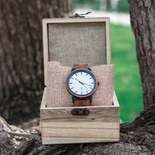 montre en bois unisexe artic acacia coffret