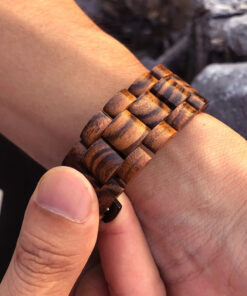 montre en bois unisexe osmo serpent bracelet