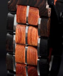 montre en bois unisexe prisma red bracelet
