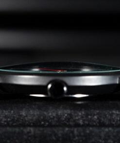 montre en bois unisexe prisma red epaisseur cadran