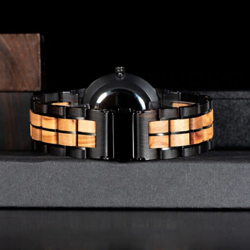 montre en bois unisexe prisma sable bracelet