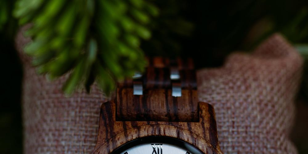 montre en bois bracelet acier bois